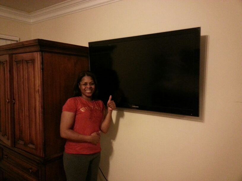 Snellville flat screen tv install
