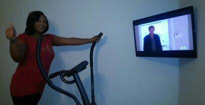 Exercise Room TV Installation Snellville Ga