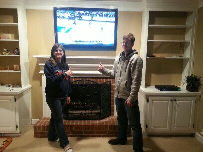 fireplace flat screen tv installation marietta ga