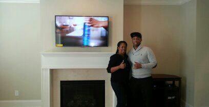 Fireplace Flat Screen TV Installation Lawrenceville Ga