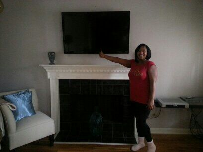 over fireplace installation snellville