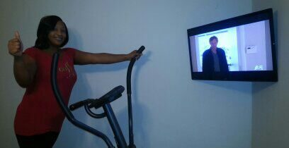 Exercise Room TV Installation Snellville Ga